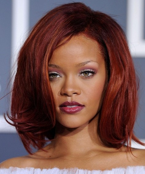 Celebrity Rihanna Hairstyles 2012 Curl Short Hairstyles