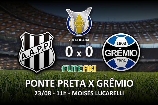 Veja o resumo da partida com os melhores momentos de Ponte Preta 0x0 Grêmio pela 20ª rodada do Brasileirão 2015