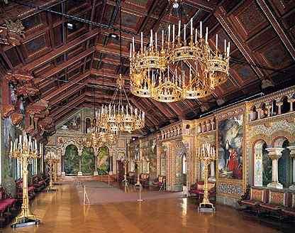 Interior del Neuschwanstein