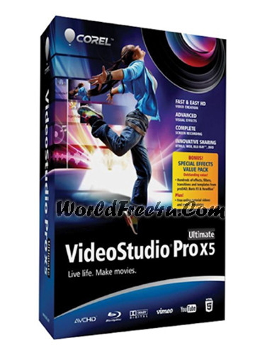Cover Of Corel VideoStudio Pro x5 Version 15.0 (2012) Full Latest Version Free Download At worldfree4u.com