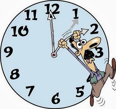 Cuidado com a mudança de hora