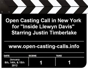 Inside Llewyn Davis New York Open Casting Calls