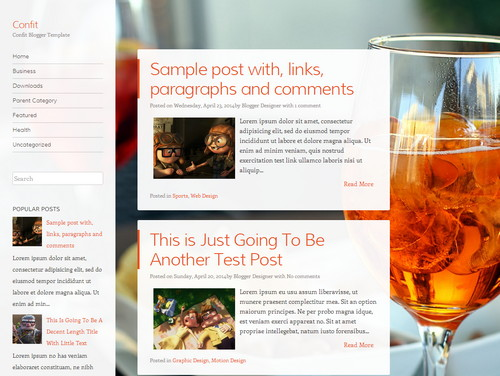 Confit - Free Blogger Template 2016  www.masteplate.com