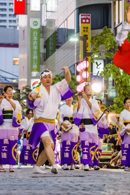 三鷹阿波踊り、三鷹商工連の男踊りと鳴り物