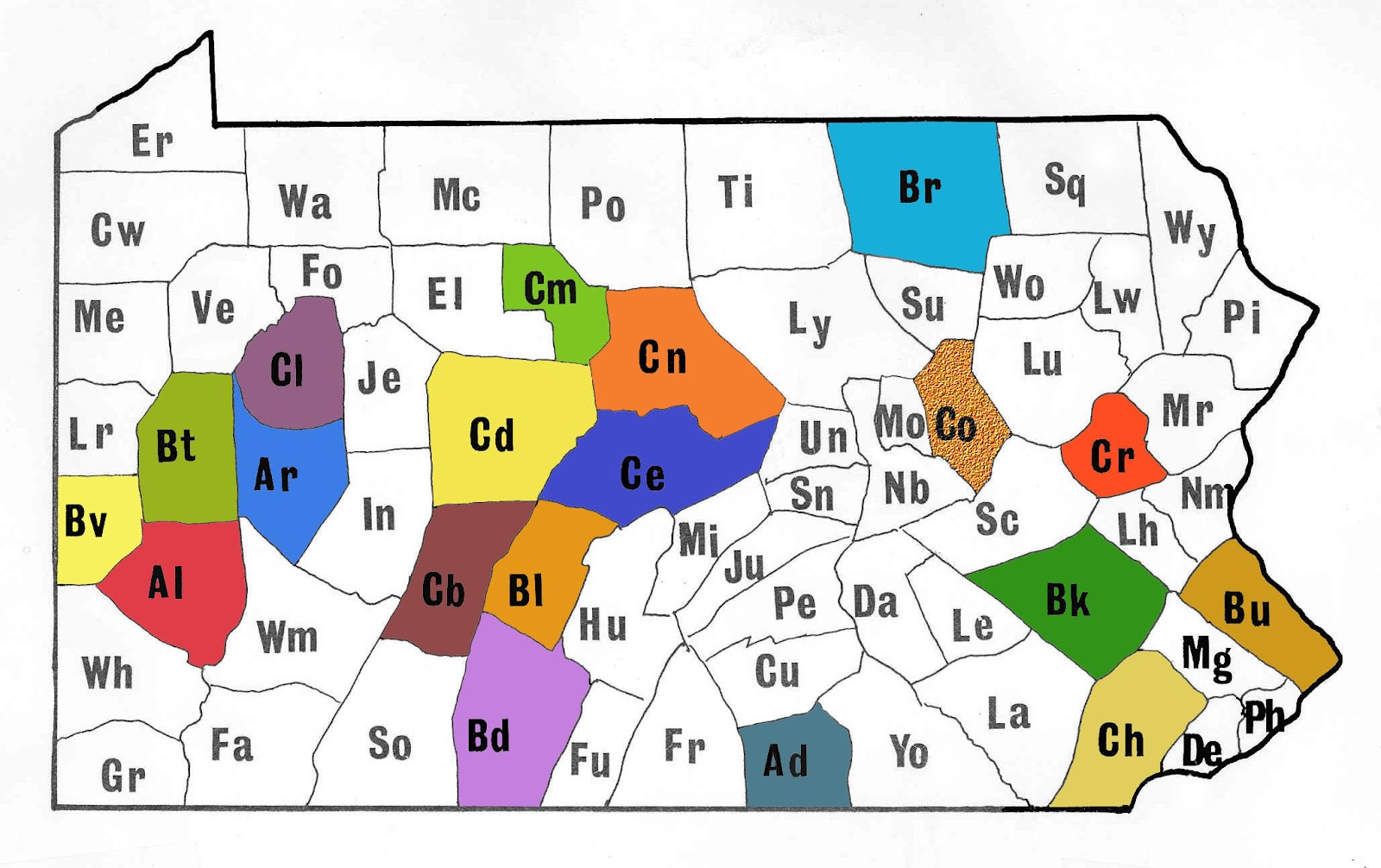 This Week In Pennsylvania Archaeology June - Western pa county map