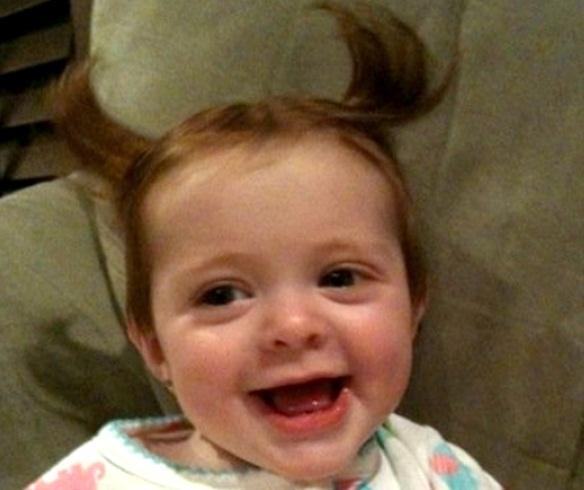 Sweet Cute Babies Having A Bad Hair Day