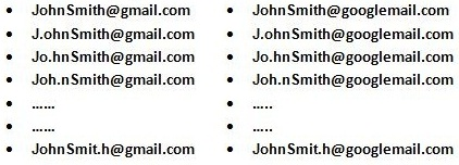 variation of email address
