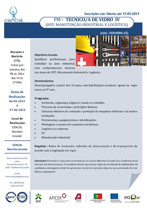 Curso remunerado para desempregados: Técnico de Vidro – Marinha Grande