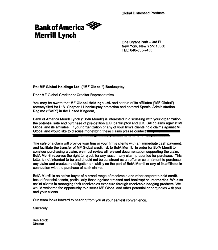 Merrill Lynch Financial Advisor Cover Letter