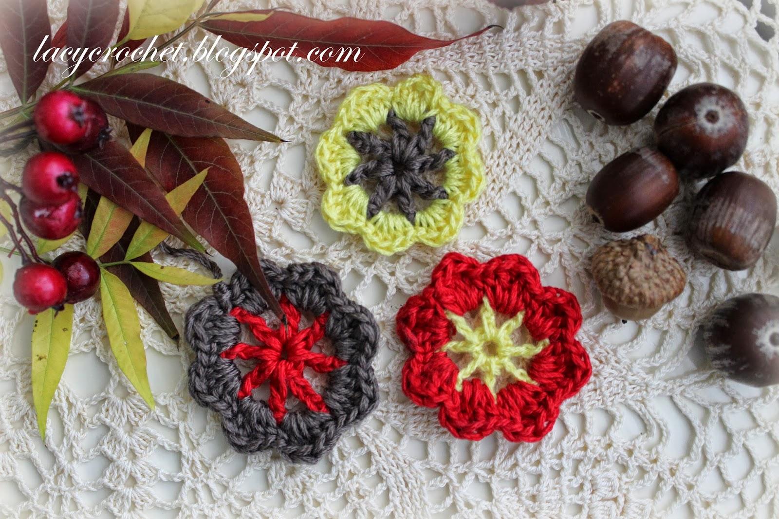 Lacy Crochet: Crochet Autumn Flowers