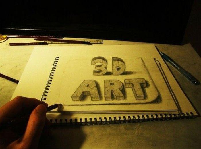 Dibujo Lapiz Grafito 3d Hechos Grafito 3d Arte Dibujos