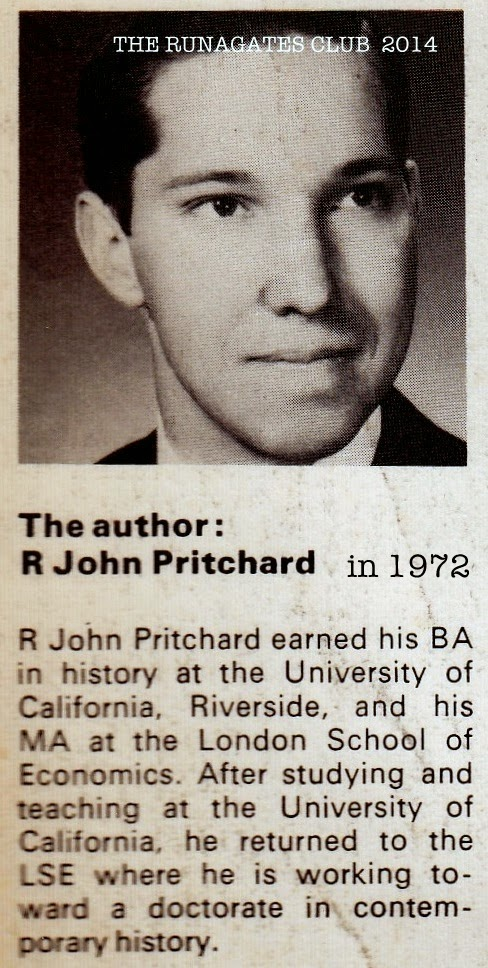 Dr.  R. John Pritchard, expert on International War Crimes Trials, photo 1972