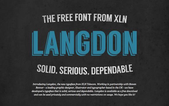 Free Font - Langdon