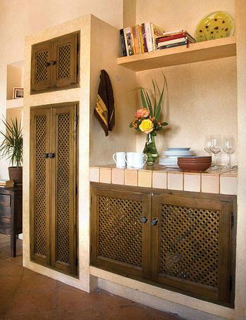 realizados a medida los muebles son de obra y estn revestidos en su parte alta con azulejos artesados de cermica vega