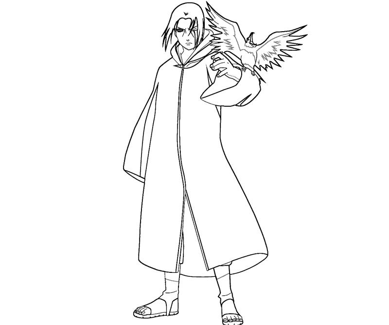 Itachi Uchiha 5 Coloring Crafty Teenager Itachi Coloring Pages