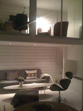 Vardagsrum med loft