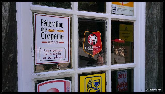 Rennes macaron creperie Place Sainte anne et Stade Rennais football club