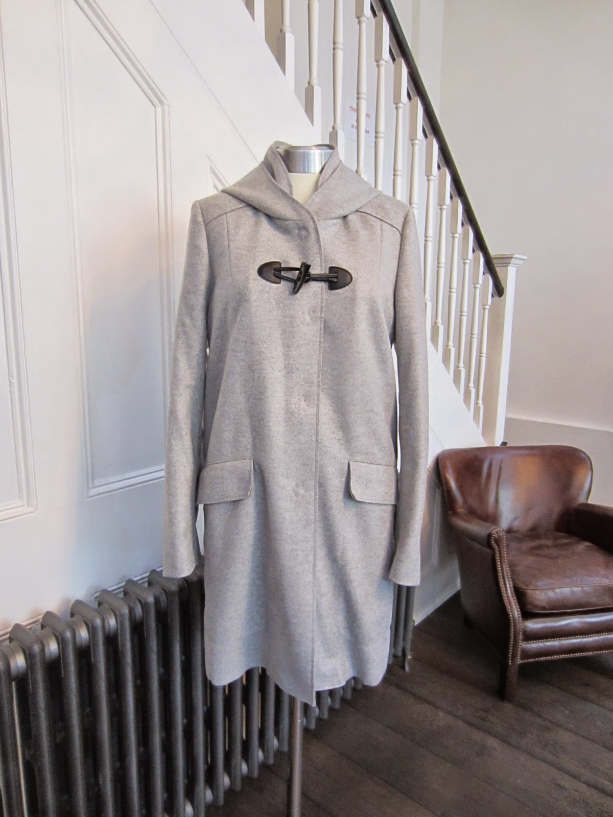 Boss Orange Grey Wool Coat