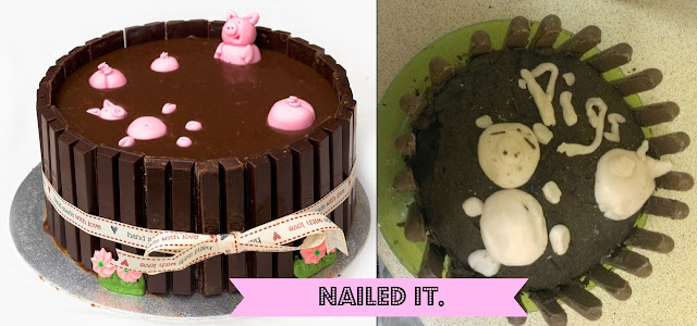 Pinterest Fail - Nailed It - Pig Cake DIY Sugar Craft