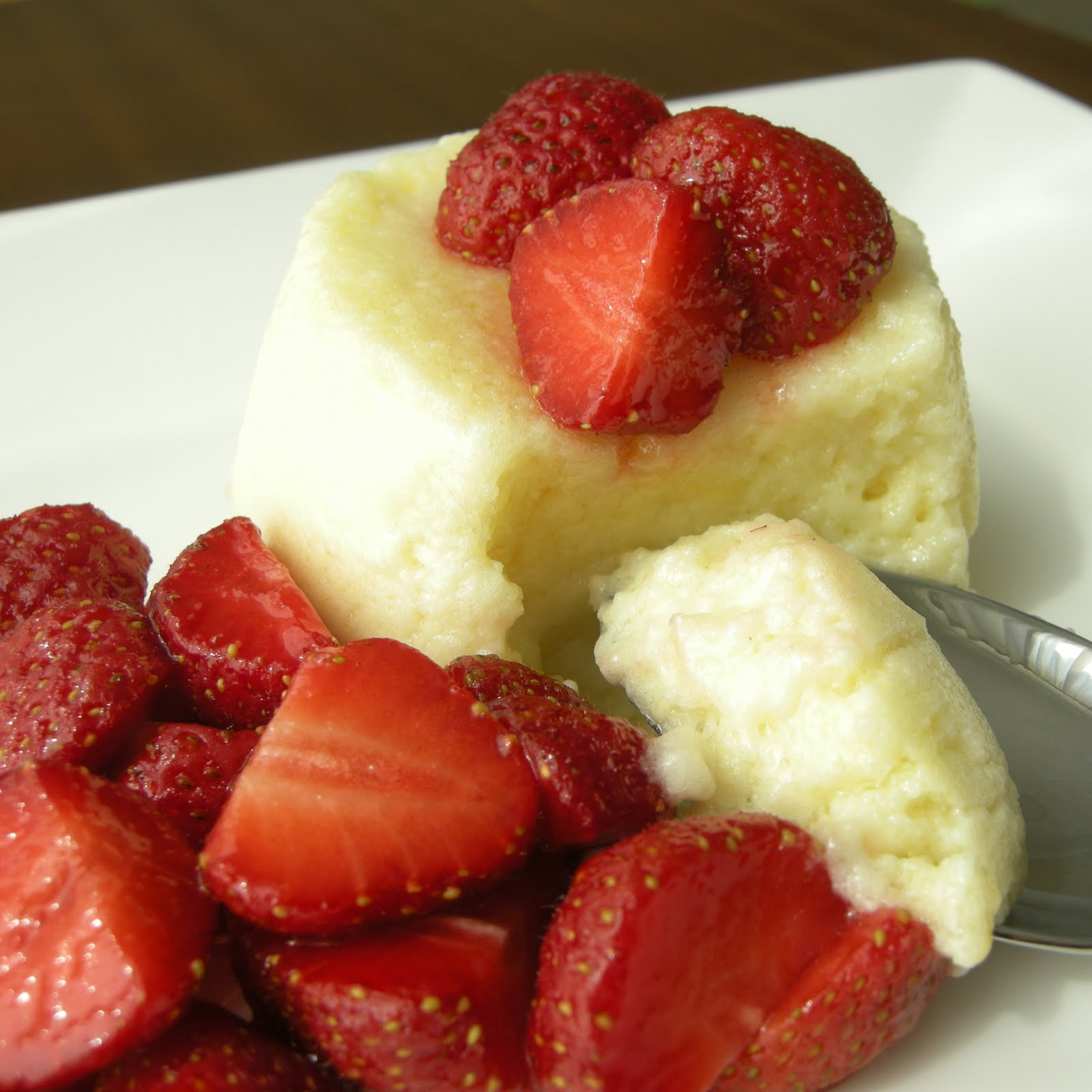 Mary Mary Culinary: Lemon-buttermilk sponge pudding with strawberries