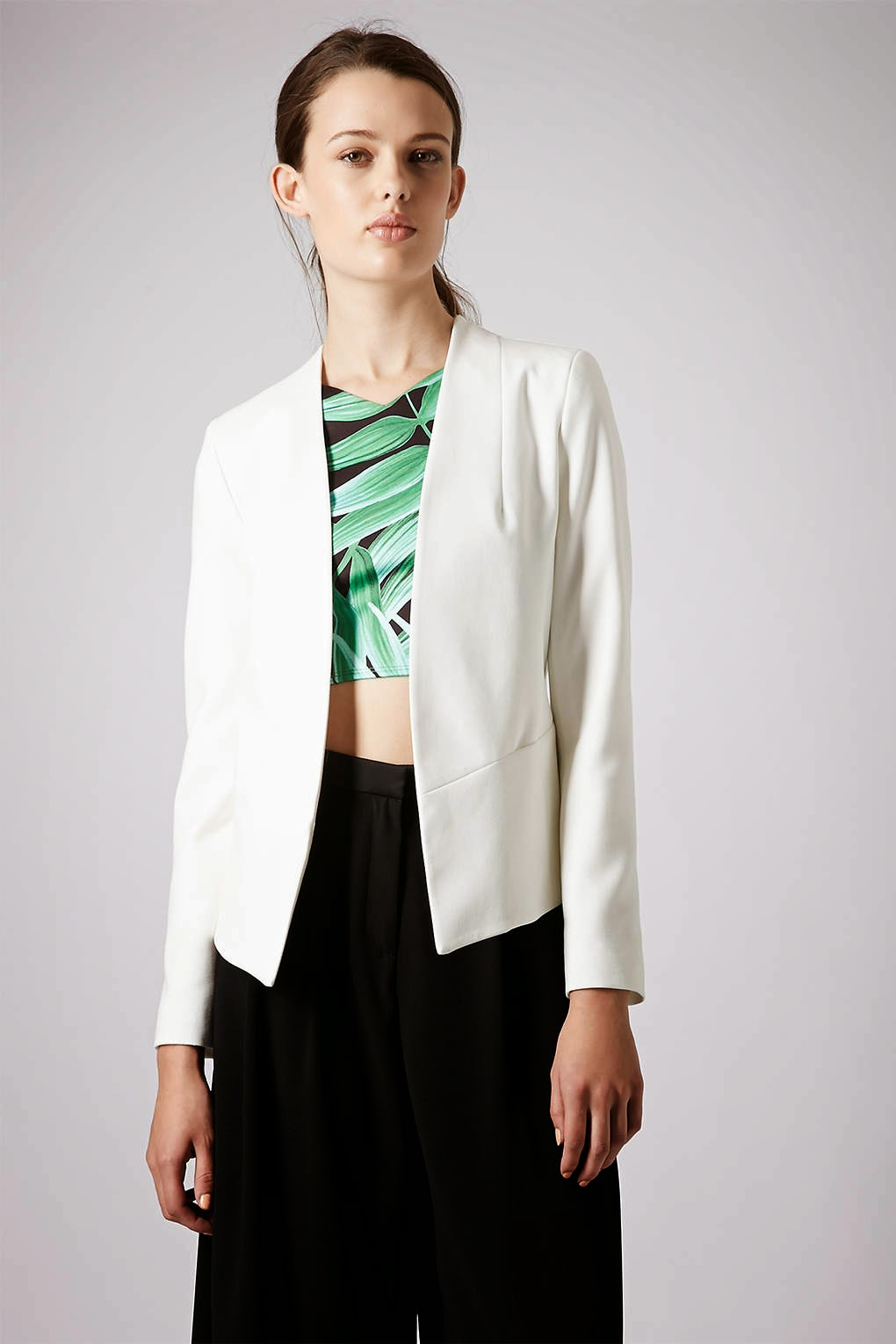 white fitted jacket