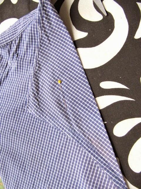 recycled men's shirt apron