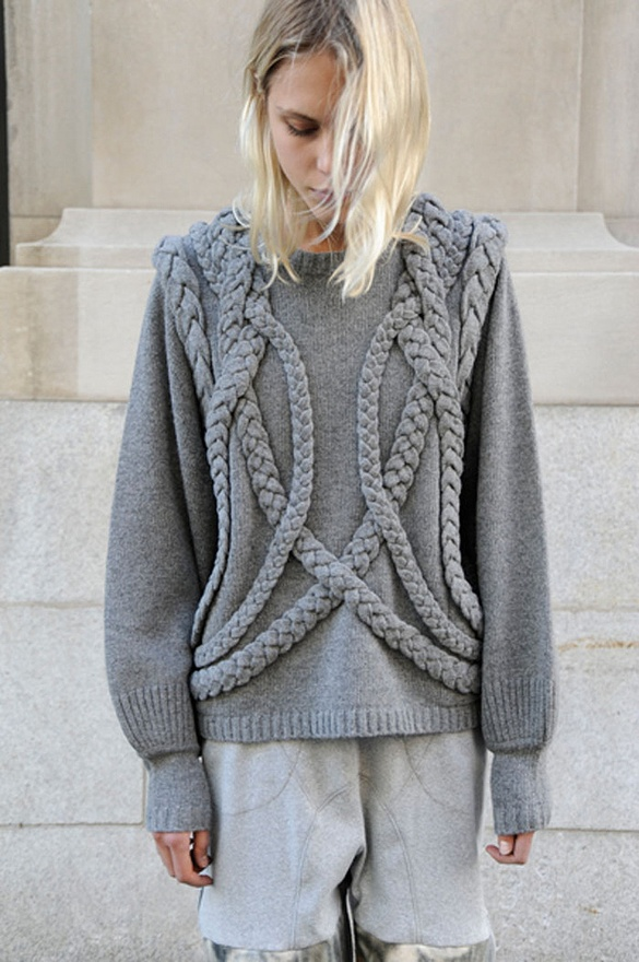 grey jumper, knitwear,