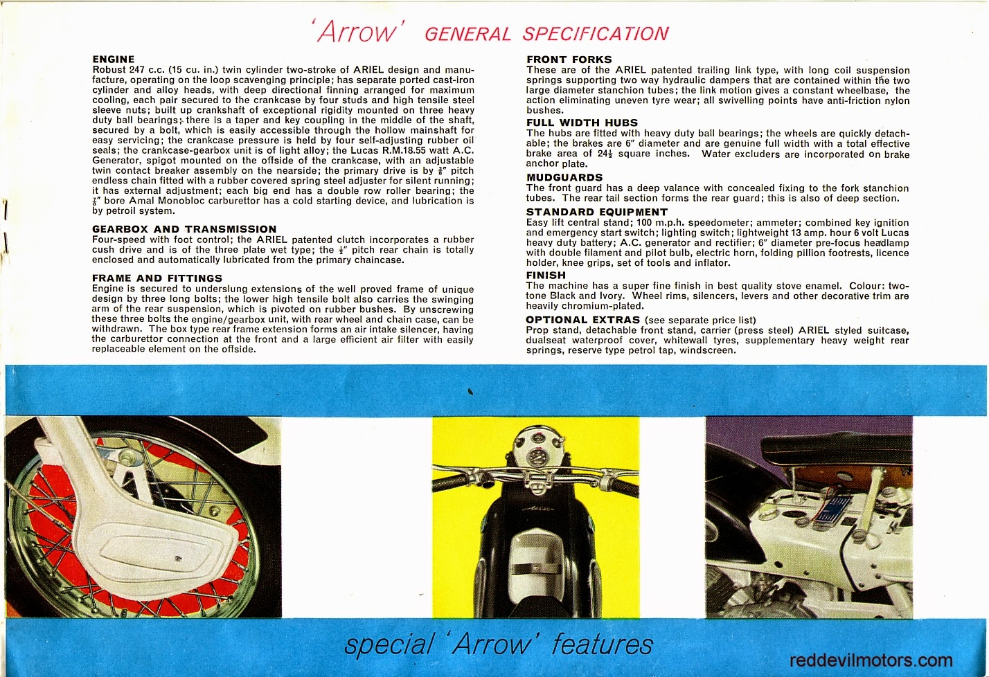 Ariel Arrow and Leader brochure page 6