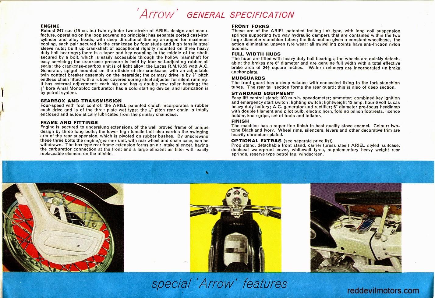 Ariel Arrow and Leader brochure page 6
