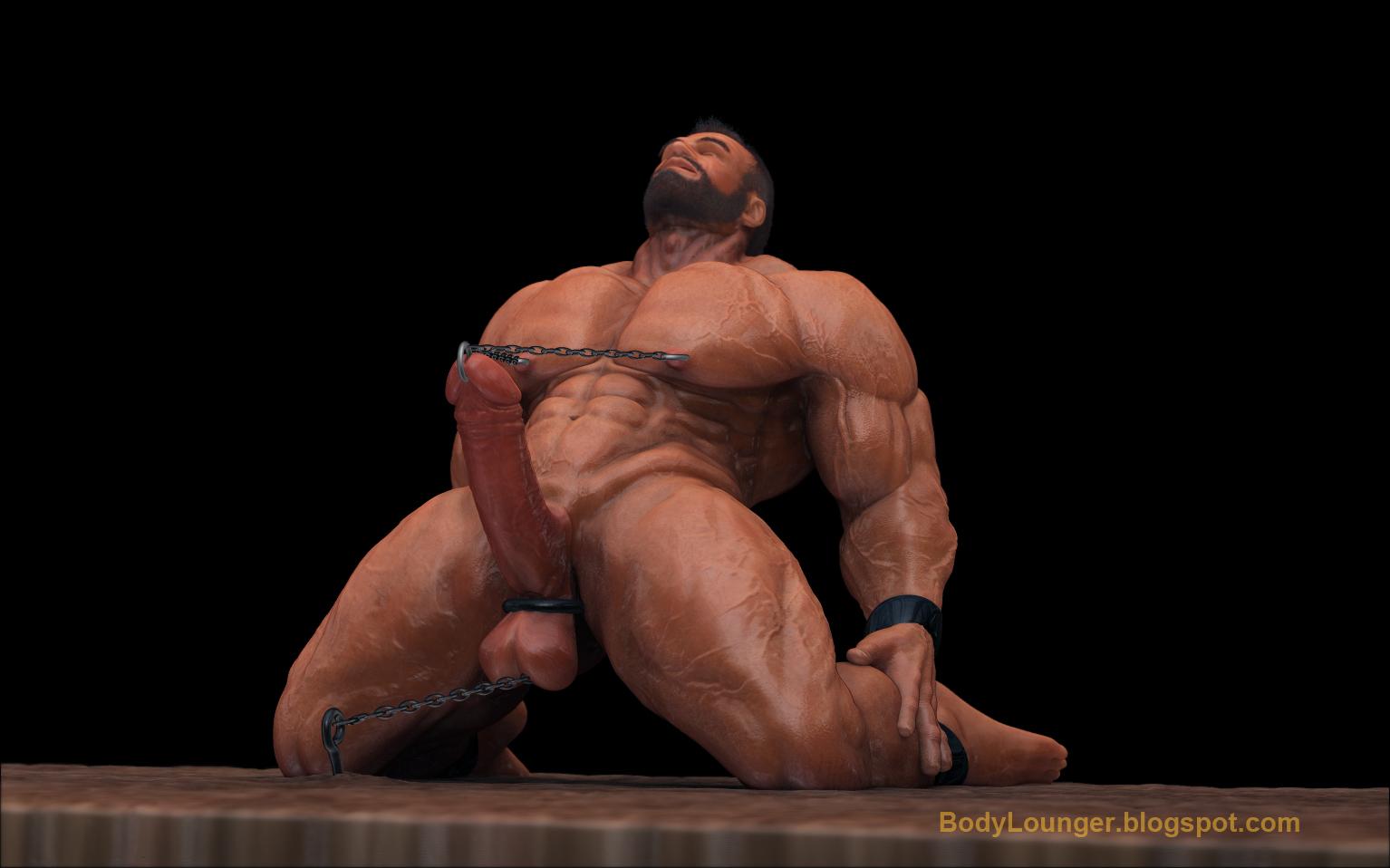 digital Body art lounger gay erotic