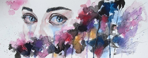 14-Neglected-Erica-Dal-Maso-Expressing-Emotions-Through-Watercolor-Paintings-www-designstack-co