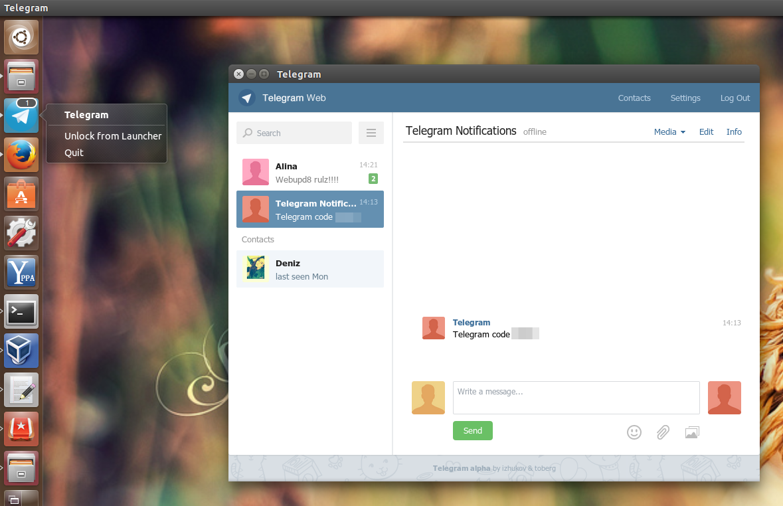 Telegram webapp Ubuntu