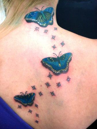 tattoo de borboletas. tattoo borboleta. mais belas