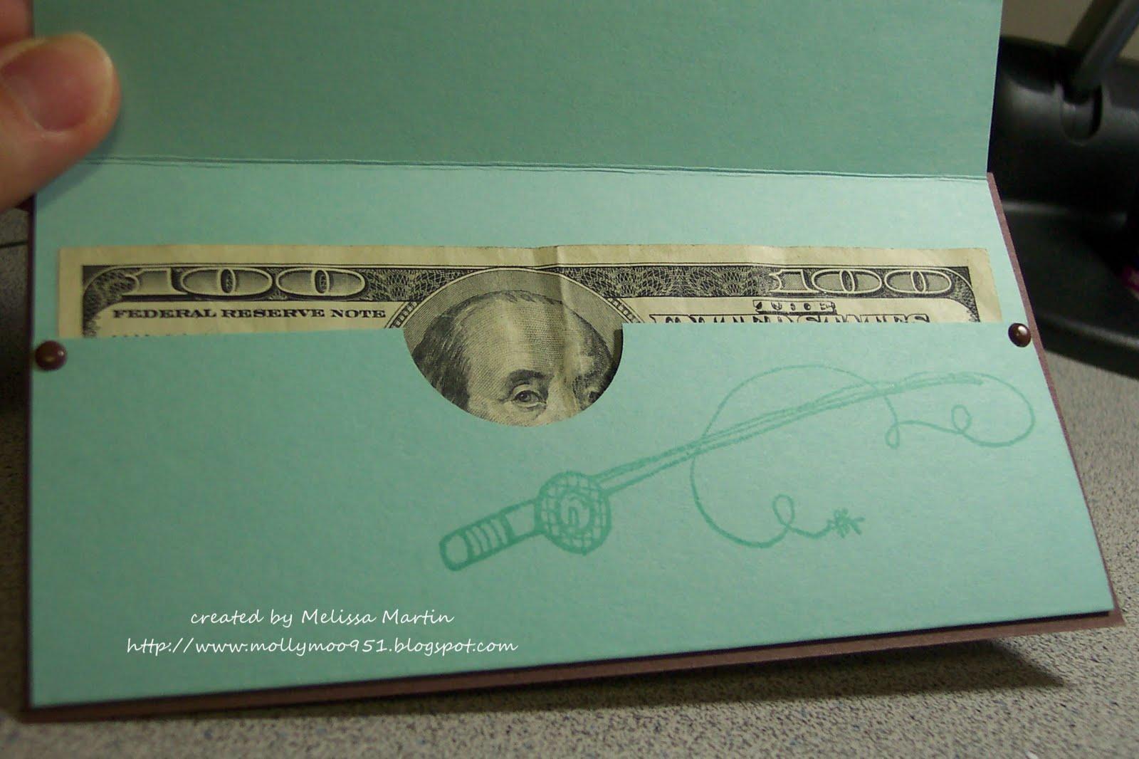 Printable Money Template Money holder