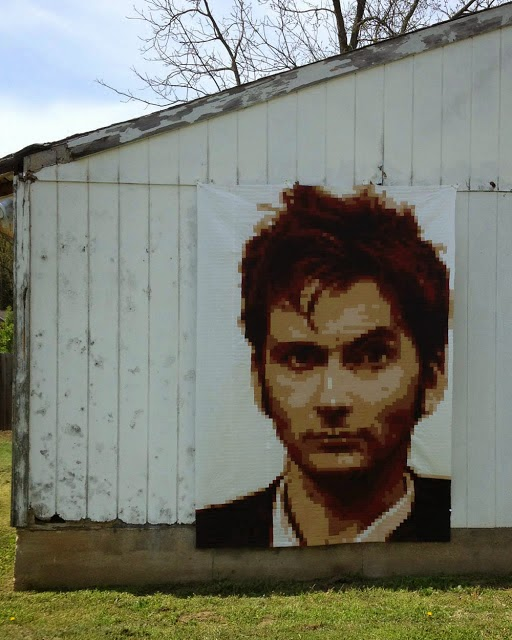 The Tenth Doctor Pixel Quilt Kristy Daum