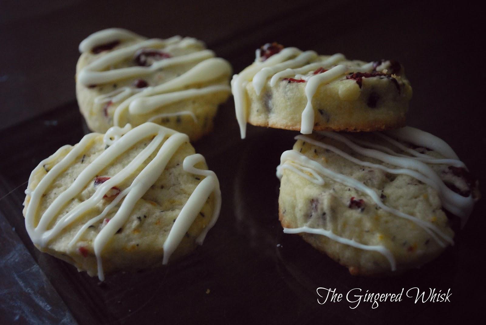 Cranberry Orange Thyme Shortbread Cookies ( Willow Bird Baking )