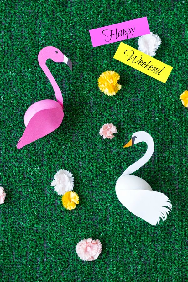 DIY Paper Flamingo