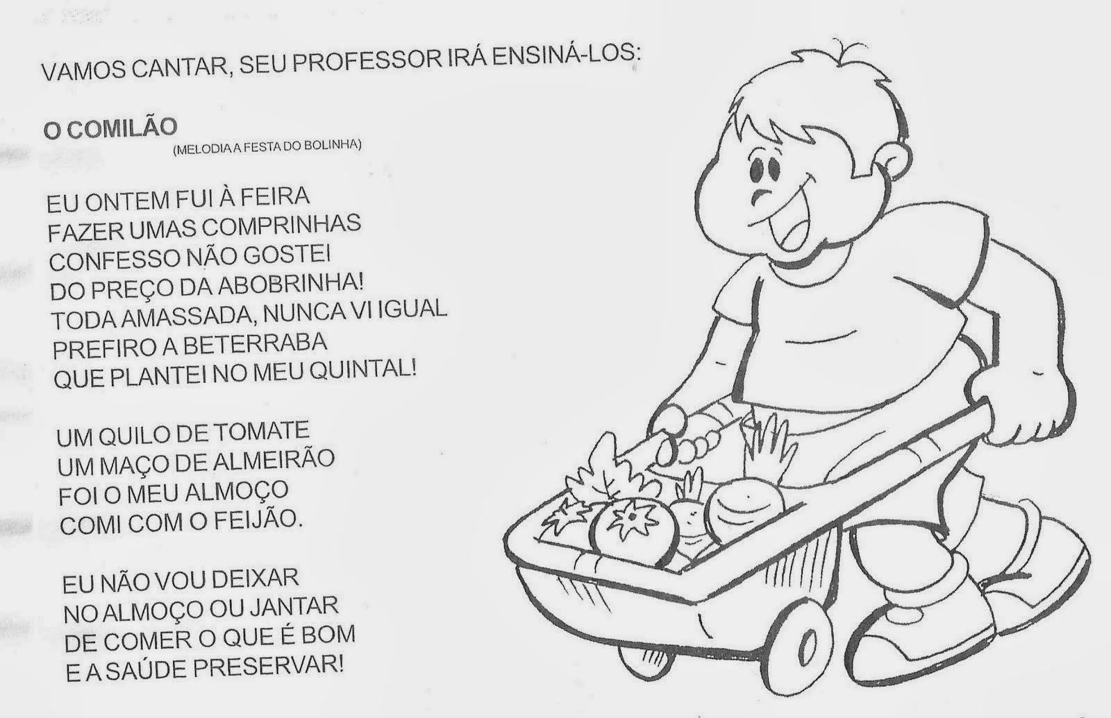 Atividades para Crianças - Pinte os vegetais e os legumes