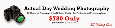 cheap wedding day photography and videography packages singapore
