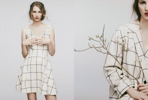 """grid trend black and white fashion"""