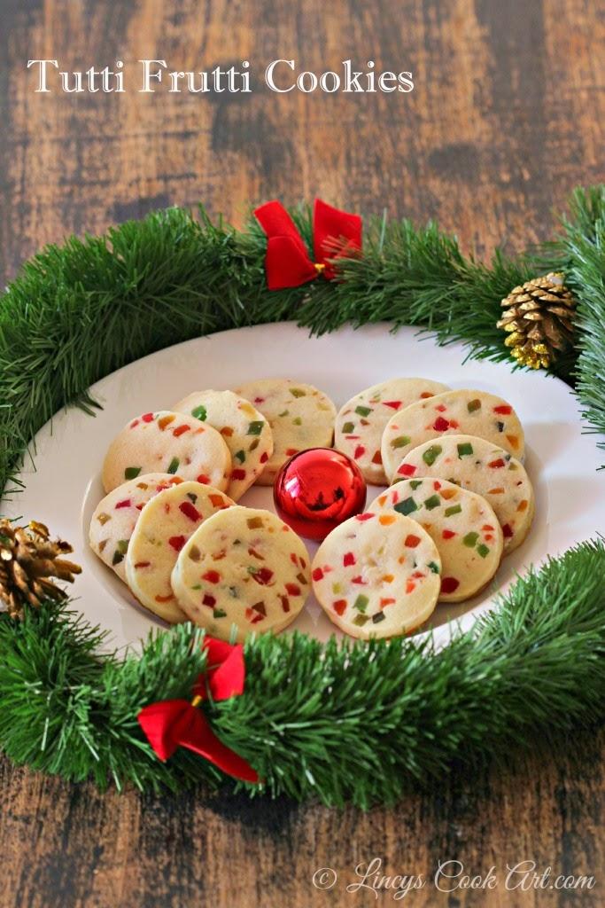 Christmas tutti frutti cookies