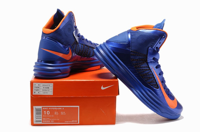 Nike Lunar Hyperdunk X 2012 Women Shoes WhiteBlueRed Womens