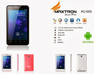 Maxtron MG-555 Phablet Android murah layar 5.2 inch