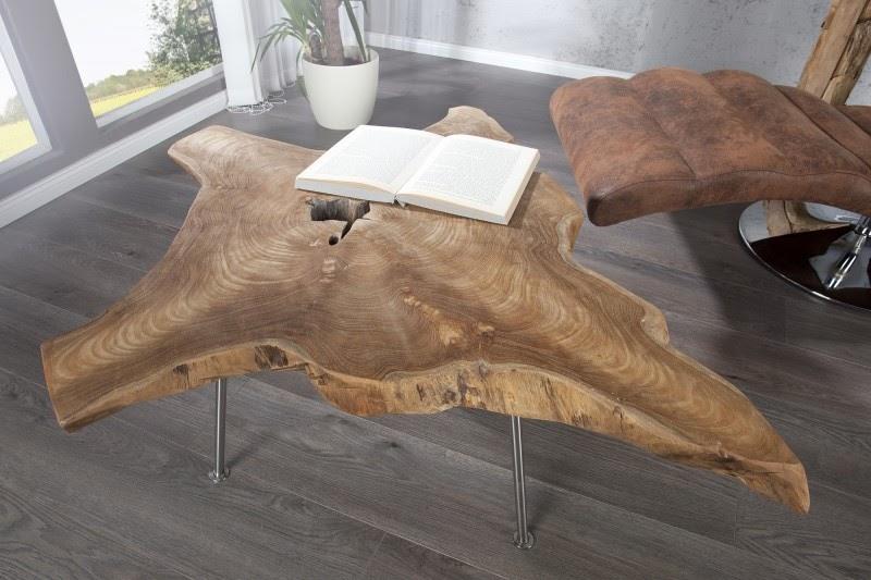 dreveny konferencny stolik, stolik z masivu, masivny dreveny stolik