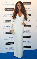 Tamara Ecclestone wearing a revealing white dress