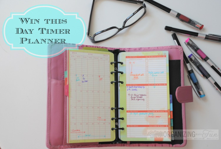 Fabulous Giveaway From Day Timer! | Organizing Made Fun: Fabulous