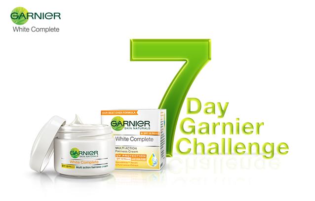 Take up the #7DayGarnierChallenge with Garnier White Complete Multi Action Fairness Cream!