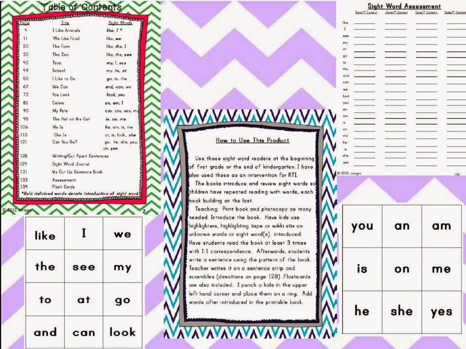 http://www.teacherspayteachers.com/Product/Sight-Word-Books-Printable-Books-to-Build-Sight-Word-Vocabulary-289112
