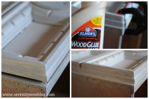 Repairing a Drawer Front with Wood Glue Serenity Now blog