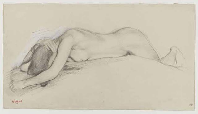Degas, Femme nue couchée sur le ventre, © RMN (Musée d'Orsay)